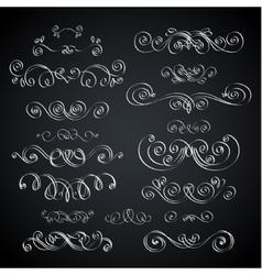 Chalkboard vignette vector image