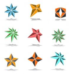 design elements set 3d stars vector image