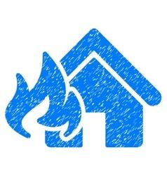 Fire Damage Grainy Texture Icon vector image vector image