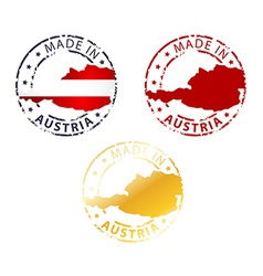 made in Austria stamp vector image vector image