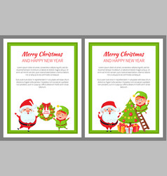 merry christmas preparations vector image vector image