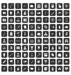 100 violation icons set black vector