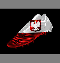 3d soccer football boot with print of flag of vector image
