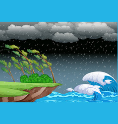 a stormy night background vector image