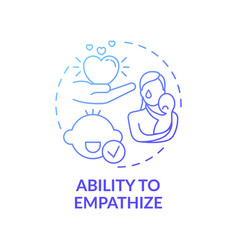 Ability to empathize blue gradient concept icon vector