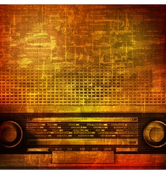 abstract brown grunge vintage sound background vector image