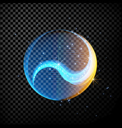 abstract glowing lines in sphere vector image