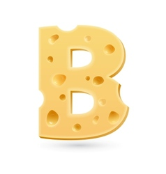 B cheese letter Symbol isolated on white vector image