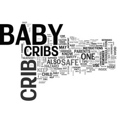 bacribs safety better safe than sorry text vector image