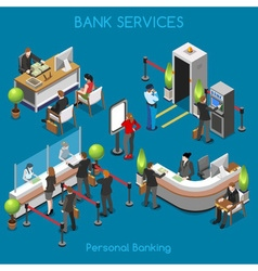 Bank Office 02 People Isometric vector