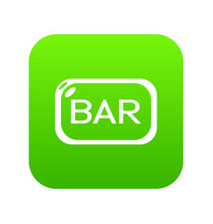 bar board icon green vector image