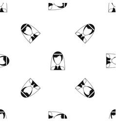 beautiful bride pattern seamless black vector image