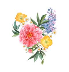 beautiful floral bouquet composition vector image