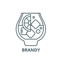 brandy line icon brandy outline sign vector image
