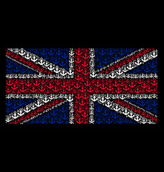 British flag collage of anchor icons vector