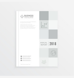 Business annual report magazine cover design in vector