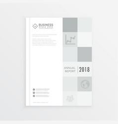 Business annual report magazine cover design vector