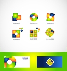 Business company logo set icon vector