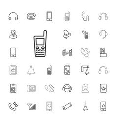 call icons vector image