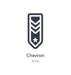 Chevron icon isolated icon from army vector