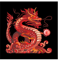 collection mascots red dragon vector image