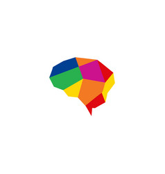 colorful brain logo design template vector image