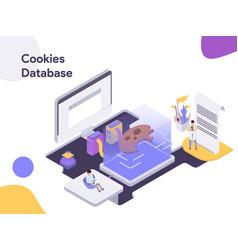 cookies database isometric modern flat design vector image