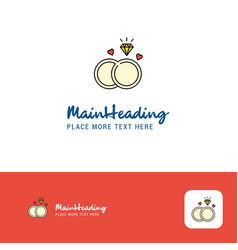 creative diamond ring logo design flat color logo vector image
