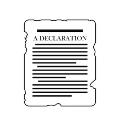 Declaration black icon vector