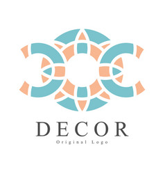 Decor original logo design creative sign for vector
