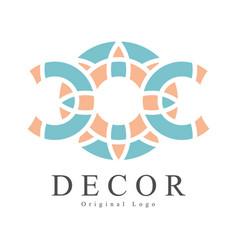 decor original logo design creative sign vector image