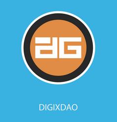 Digixdao dgd digital cryptocurrency logo vector