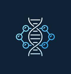 dna inside molecule colorful outline icon vector image