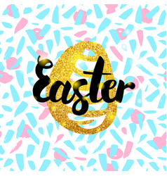 easter hand drawn design vector image