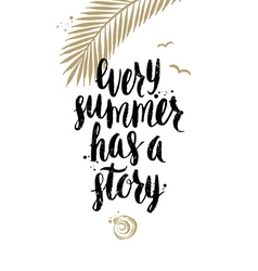 Every summer has a story vector