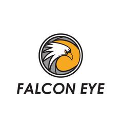 Falcon eye logo vector