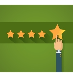 Flat design customer review vector
