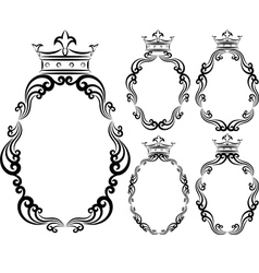 frames with crowns vector image