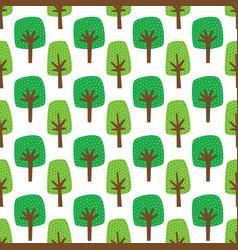 green cartoon trees seamless pattern vector image