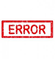 grunge office stamp error vector image vector image