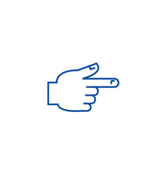 hand pointer line icon concept hand pointer flat vector image