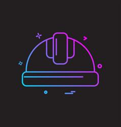 Helmet labor icon design vector