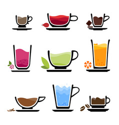 icon cup beverages vector image
