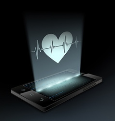 Icon heart on the screen vector