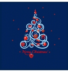 Image of Christmas trees in lines vector image