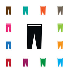 isolated breeches icon pants element can vector image