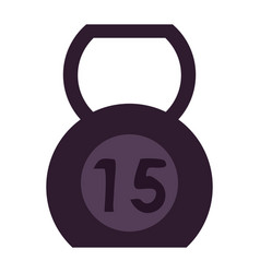 kettlebell 15 weight icon imag vector image