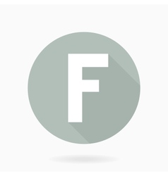 Letter F White Icon With Flat Design vector