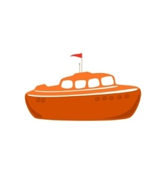 Lifeboat Isolated on White vector image