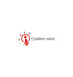 Light bulb idea company logo vector